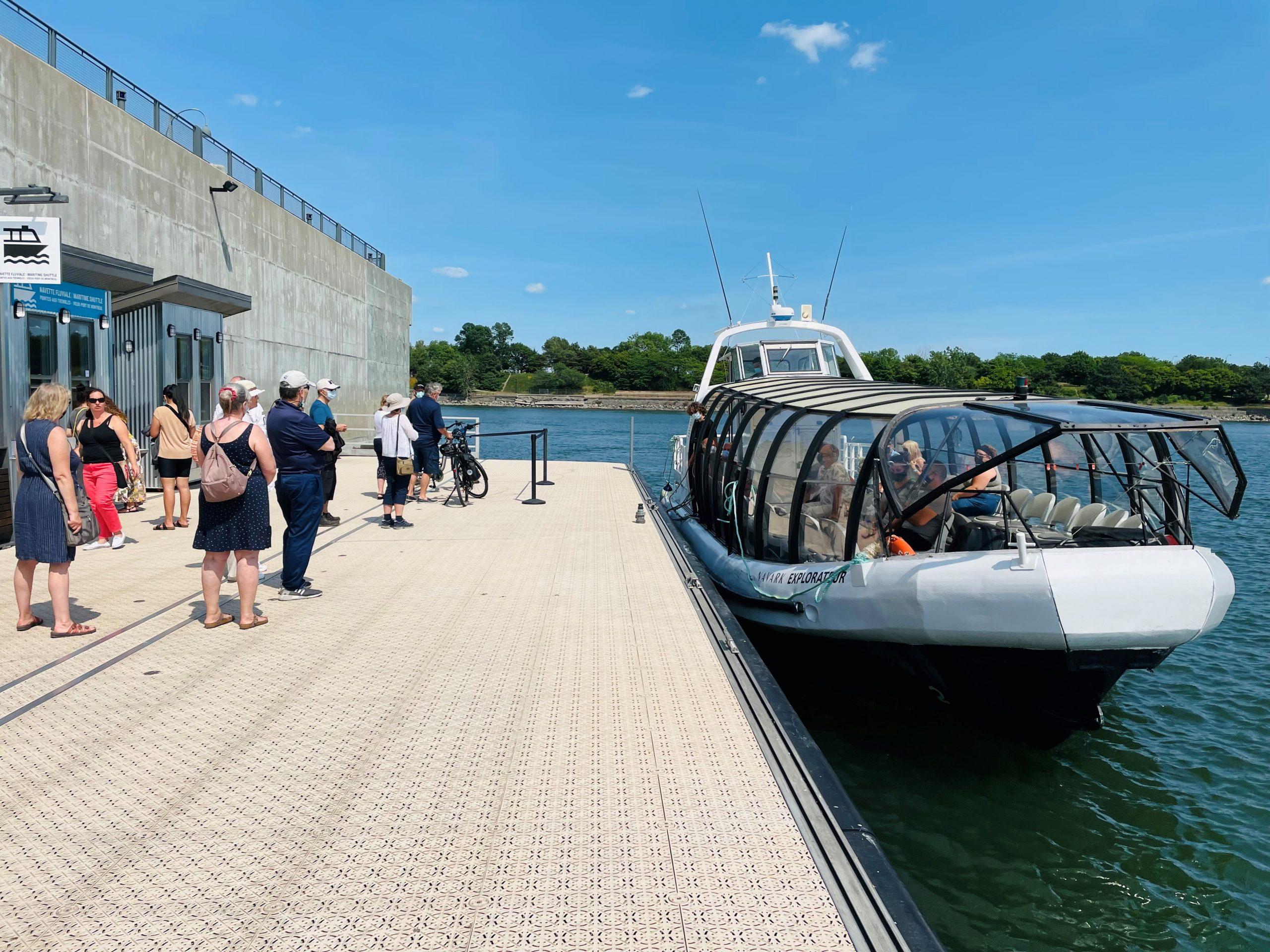 La navette fluviale entre Pointe-aux-Trembles et le Vieux-Port de Montréal est de retour pour l'été 2021 !